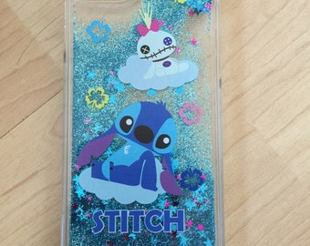 Disney Stitch Liquid Glitter Quicksand Case For iPhone 6/6s , iPhone 6/6s Plus - Ships from NY