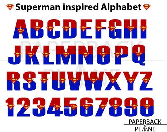 Superman Alphabet Letters