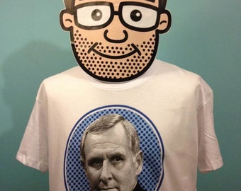 Porridge - Harry Grout T-Shirt (Peter Vaughan / Grouty / Ronnie Barker) - White Shirt