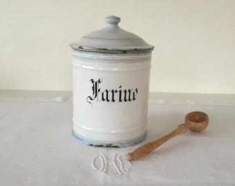 Vintage French enamelware pot