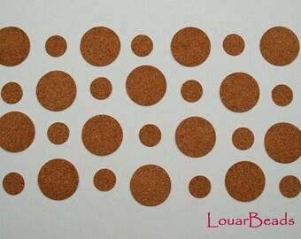Adhesive Cork Circles