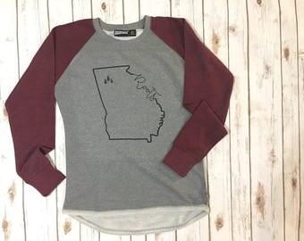 Georgia Roots Raglan High Low Sweatshirt