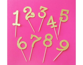 Birthday. Custom Birthday. One. Two. Three. Four. Five. Six. Seven. Eight. Nine. Custom Cupcake Toppers. Birthday Number. Choose Any Number!