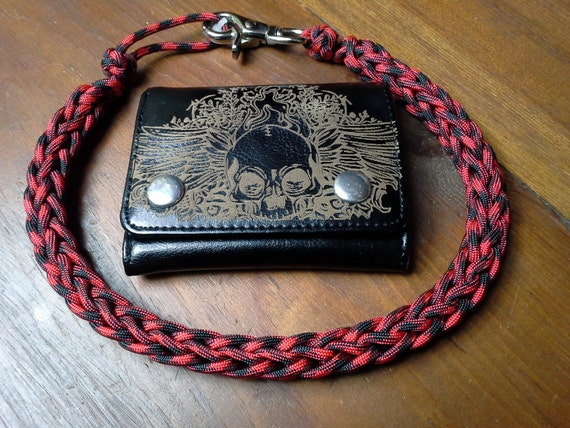 550 paracord mens wallet womens wallet chain supper light for How to make a paracord wallet chain