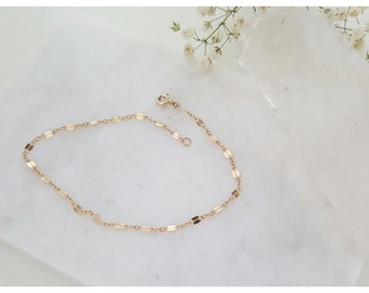 Romee Anklet Chain, Simple 14k Gold Filled Anklet, Gold Chain Anklet