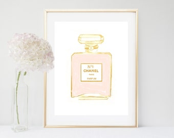 Coco Chanel Print, Chanel Perfume, Printable, Coco Chanel, Fashion Print, Digital Download, Bedroom Print