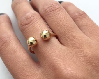 Minimal double ball ring
