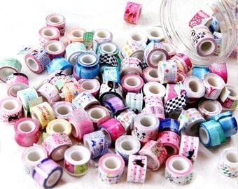Tiny Tapes, Little Washi Rolls, Sticker Sample Masking Adhesive