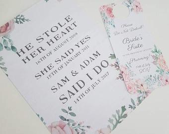 Wedding Thank you Sign, Door Hanger, Do not Disturb Wedding Sign, Rustic Wedding Decoration, Wedding Guest Thank you Card, Vintage Card