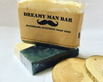 For him . Dreamy Man . Soap slice. Shea butter Natural, Father's Day Gift, Guinness Soap, Christmas Gift