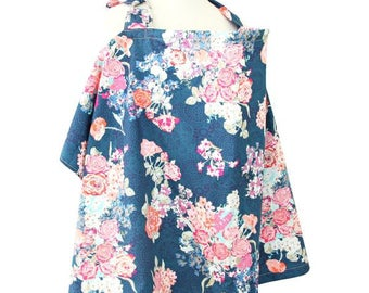 Charleigh's Floral | Navy and Coral Nursing Cover