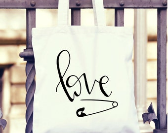 Specialty Safety Pin Love Tote- Limited Edition