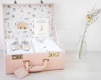 Personalised Memory Keepsake box in Blush Pink, 3rd Anniversary, new baby, baby christening, girl christening