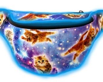 Light Up Galaxy Cat Fanny Pack
