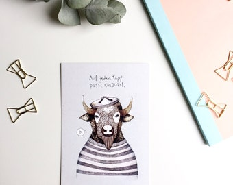 Postcards package / / 5 piece, post card, bison, love, relationship, card