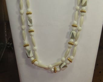 E-66 Vintage  Necklace beads 38 in long
