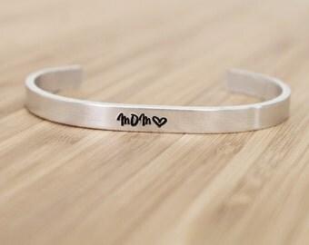 hand stamped cuff bracelet | mom
