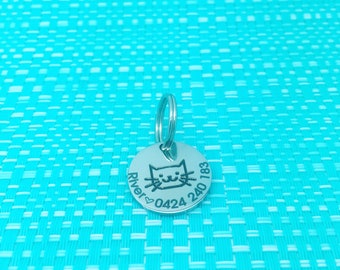 Cat Tag, Cat Id Tag, Pet Tag, Pet ID Tag, Cat, Cat Name Tag, Custom Cat Tag, Cat Gifts, Personalized ID Tag, Personalized Cat, Cat Collar