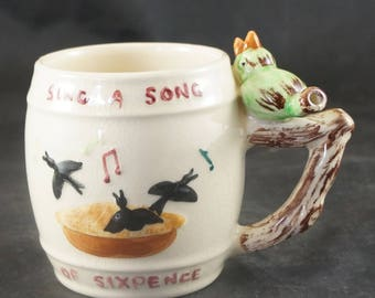 WHISTLE MUG Sing A Song Of Sixpence Made in England
