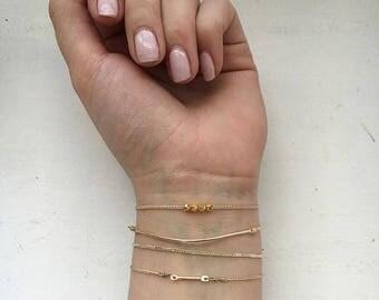 ESME BAR GOLD Bracelet, Thin Gold Bracelet, Stackable