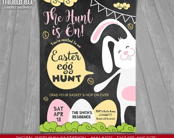 Easter Party Invitation - Easter Card Invitation - Easter Egg Hunt Egg Hunt Invitation - Easter Bunny party