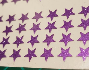 Star Nail Decals x 48. Star Nail Stickers. Star Stickers. Nail Art. Easy Peel & Stick. Glitter Colours. FREE UK SHIPPING.