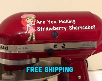 Strawberry Shortcake KitchenAid Mixer Decal