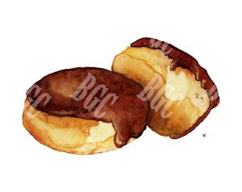 Custard Filled Donuts Print (Horizontal)