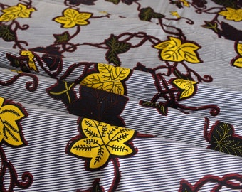 African Print Fabric - Crafting fabric - Ankara African Print - African Fabric - Wax Print Fabric - African Print - Fabric per yard