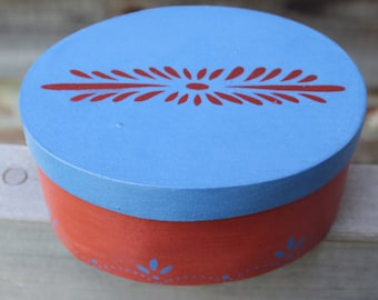 Small Box with Stenciled Decoration