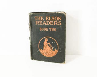 Elson Reader Book Two - 1927 Primary Reader - Scott Foresman Elementary Book - Children's Early Reader - Fairy Tales - Fables -Child's story
