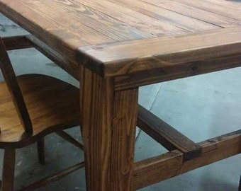 Wood Dining Table Stained Wood Painted Wood Dining Table Wood Table Custom Dine  Table Handmade Dining