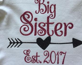 Big Sibling Shirt/ Big Brother Shirt/ Big Sister Shirt/ Big Cousin Shirt/ Sewthern / Sewthern Creations