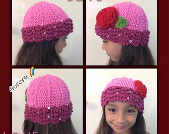 Disney Princess Crochet Hat- Beanie - Princesses Knit Hat-Beanie - Princess Toddler Hat-Beanie