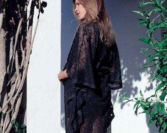 Maternity party dress, black party dress, premama christmas dress. DUELO