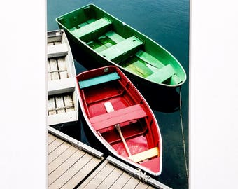 Boats Photo Dock Photograph Print Original Signed Mat Matted