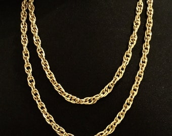 Vintage Golden Opera Rope Chain