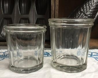 2 old jam jars