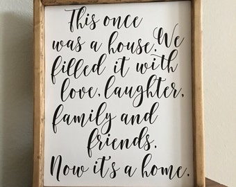 Now It's a home Sign