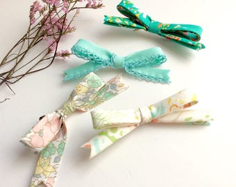 Annie Bow - in four spring patterns - baby bow - toddler bow - hair bow