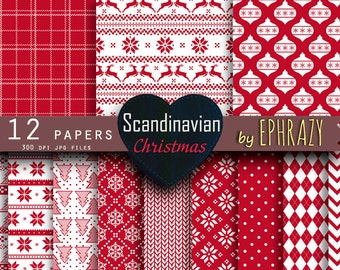 30% OFF AND MORE. Christmas digital paper. Christmas digital. Christmas paper. Christmas.Scandinavian. Scandinavian print. Nordic Christmas.