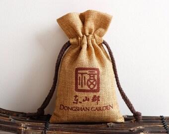 Personalize linenette  bag custom monogram logo wedding bridesmaid packaging bag-cyfz 3