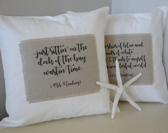 Decorative pillow   Personalized gift   Nautical gift   Girlfriend gift   Best friend gift   Birthday gift   Coastal decor   Beach decor