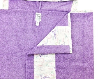 Pastel Paris Hooded Towel Lavender Pink
