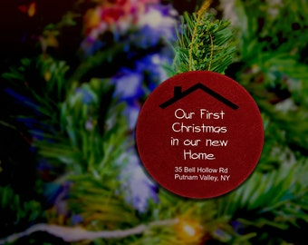 Our First Home Ornament Gift Our First Home As Mrs And Mrs Ornament Gift Customizable Christmas Ornament Our First Home Together Ornament