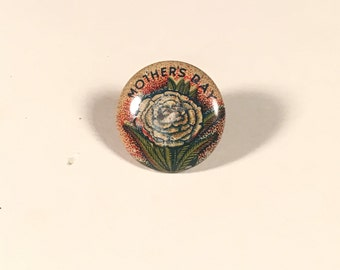 1920s Mother's Day Pin-Back, Original Tin Litho Pin by William H. Dietz