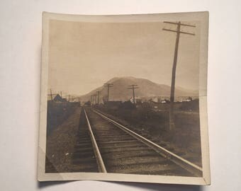 Empty Tracks - Vintage Photo, Original 1930s Snapshot Photograph