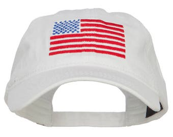 Line USA Flag Embroidered Washed Cap