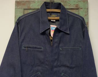 OshKosh DENIM JACKET • Vintage Denim • Mens 42R • Barn Jacket • NoS Denim Coat • Vintage Clothes • Work Denim • Trucker • TheWhiskeredKitten
