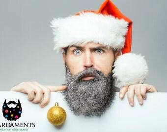 Beard Glitter Kit - 4 Colors Availabe! Red Green Gold Silver -Glitter Beard Decembeard Beard Season Christmas Beard Baubles Beard Decoration